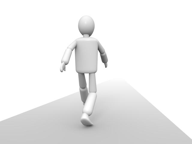 目標を目指して歩く人物 - 人物イラスト 無料素材